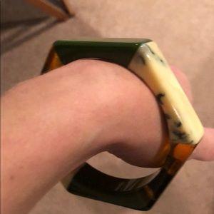 Plunder Bracelet green/ivory/tortoise